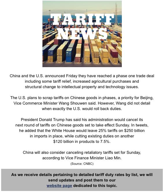 December 15 tariffs